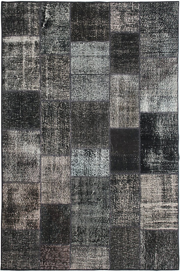"""Hand Knotted Antique Patchwork Rug - 5'9"""" x 7'10"""""""