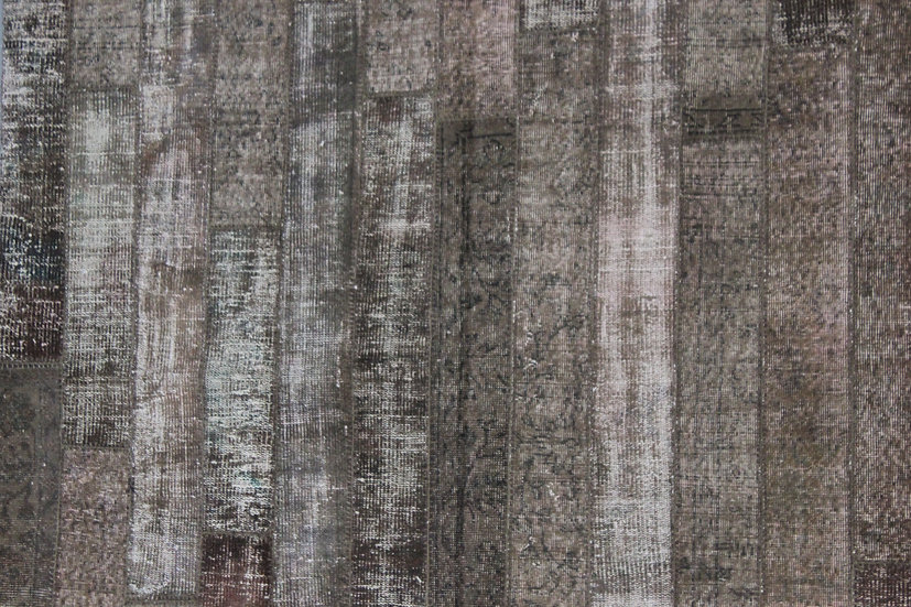 """Hand Knotted Antique Patchwork Rug - 6'9"""" x 10'0"""""""