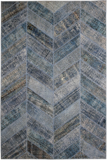 "Hand Knotted Antique Patchwork Rug - 6'7"" x 10'2"""
