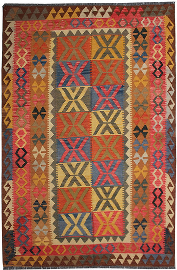 "Hand Knotted Traditional Kilim - 5'4"" x 8'0"""