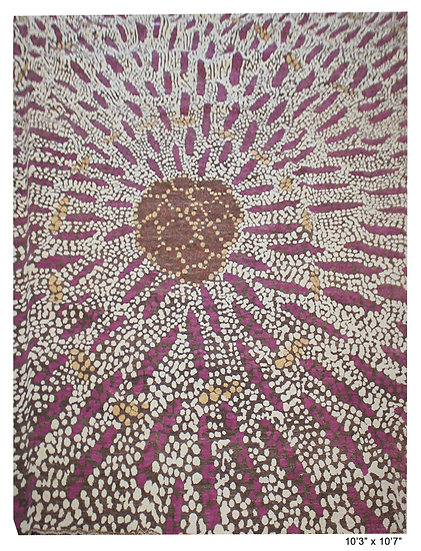 """Hand Knotted Modern Wool & Cotton Rug 10'3"""" x 10'7"""""""