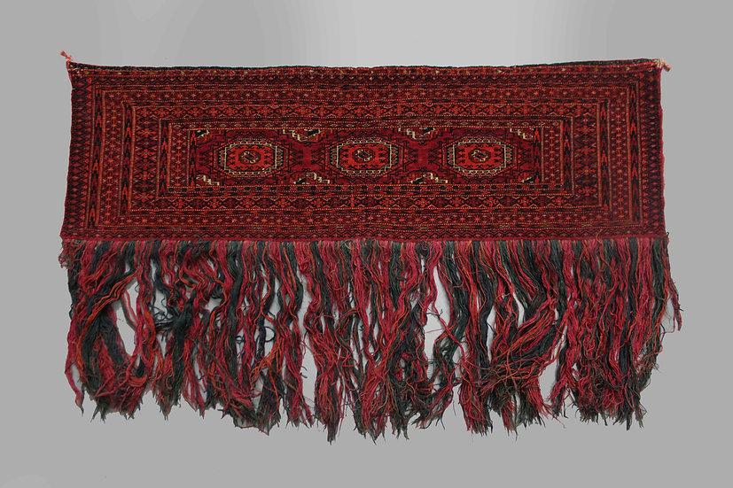 "Hand Knotted Antique Turkaman Juwal 4'3"" x 1'3"""