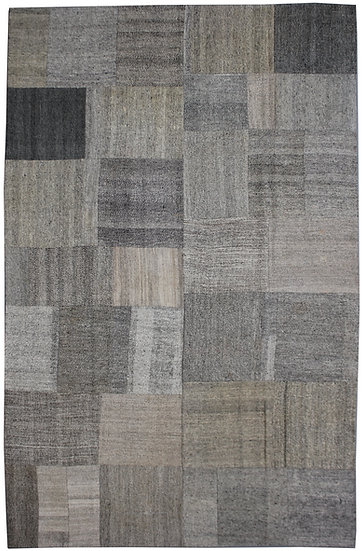 """Hand Knotted Antique Patchwork Kilim - 8'11"""" x 12'3"""""""