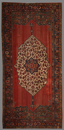 """Hand Knotted Vintage Mahal Rug. 5'11"""" x 11'3"""""""