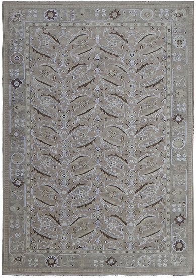 """Hand Knotted Fine Oushak Rug  - 11'3"""" X 9'5"""""""
