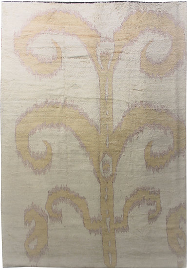"Hand Knotted Ikat Rug - 10'4"" X 14'5"""