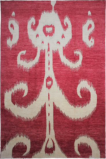 """Hand Knotted Ikat Rug - 10'1"""" X 14'2"""""""