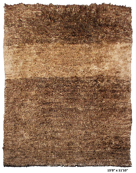 "Hand Knotted Shaggy Rug 15'0"" x 11'10"" AA1495"