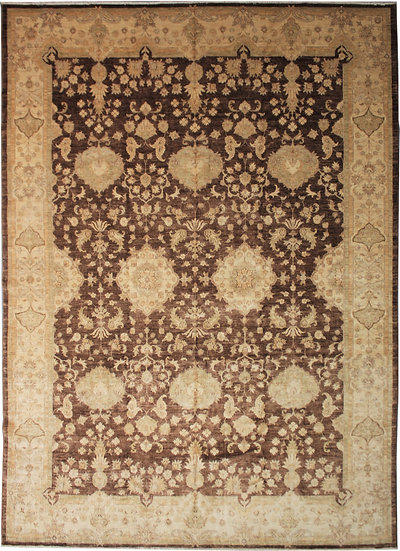 """Hand Knotted Wool & Cotton Rug    9'11"""" x 13'4"""""""