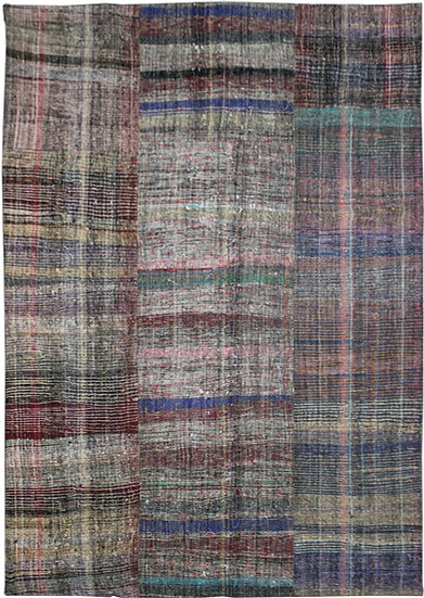 """Hand Knotted Antique Patchwork Rug - 8'7"""" x 11'9"""""""