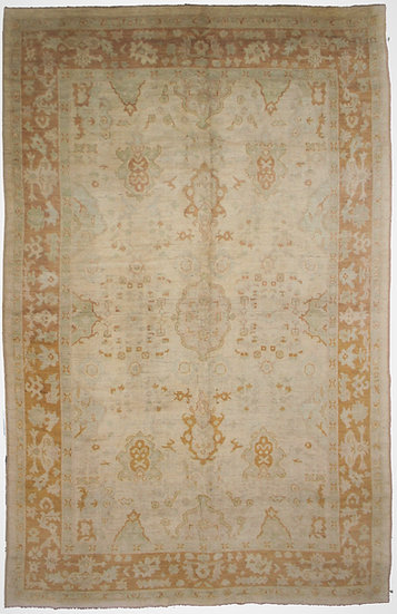 """Hand Knotted Fine Oushak Rug - 9'10"""" x 13'10"""""""