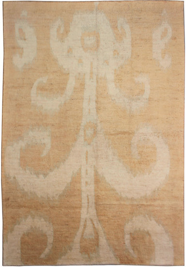 """Hand Knotted Ikat Rug - 9'6"""" x 11'11"""""""