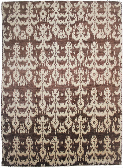 """Hand Knotted Ikat Rug - 13'7"""" X 10'0"""""""