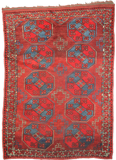 """Hand Knotted Antique Turkaman Rug - 5'3"""" x 8'0"""""""