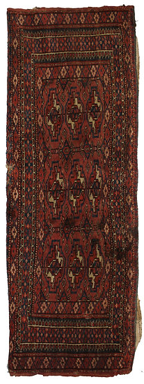 "Hand Knotted Antique Turkamen Yomut Rug   1'3"" x 3'3"""