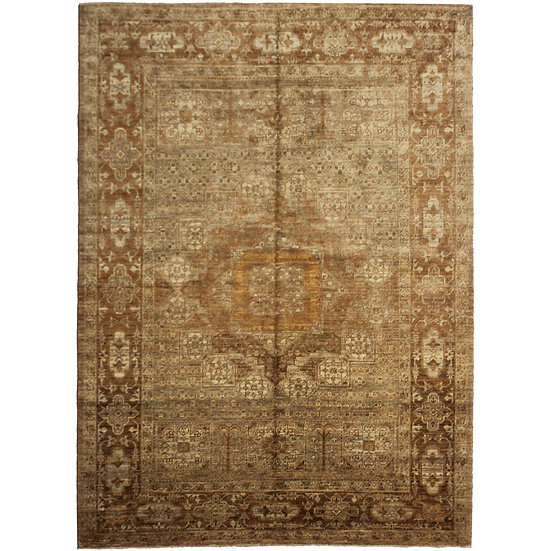 "Hand-Knotted Wool & Cotton Rug - 6'10"" x 4'1"""
