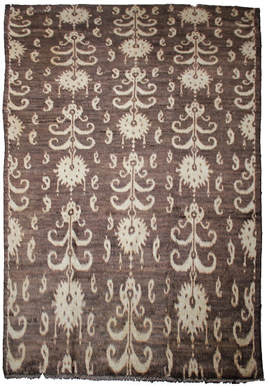 """Hand Knotted Ikat Rug - 9'9"""" x 14'0"""""""