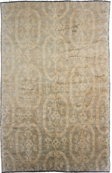 "Hand Knotted Ikat Rug - 6'0"" x 9'3"""