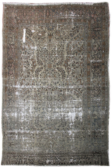 Hand Knotted Antique Lilihan Rug - 9′7″ × 11′4″