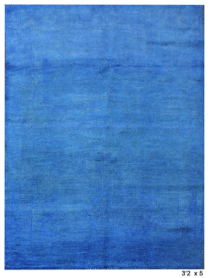 """Hand Knotted Oushak Rug -3'2"""" x 5'0"""""""