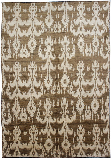 "Hand Knotted Ikat Rug 7'7"" x 10'5"""