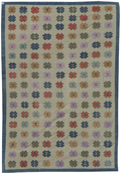 Hand Knotted Modern Kilim - 12′ × 17′6″