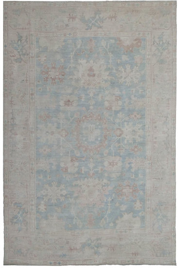"Hand Knotted Fine Oushak Rug  - 12'7"" X 8'9"""