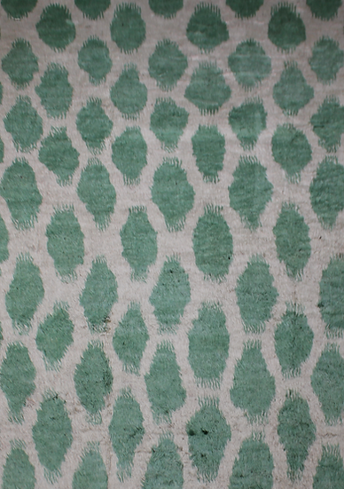 """Hand Knotted Ikat Rug - 10'0"""" X 13'8"""""""