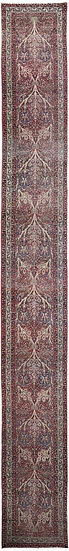 "Hand Knotted Antique Kerman Shah Runner - 21'1"" x 2'6"""