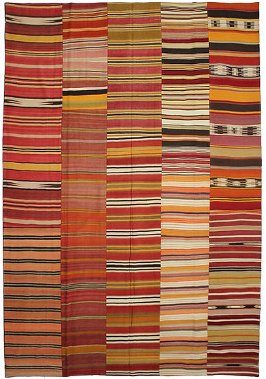 """Hand Knotted Antique Patchwork Kilim - 9'8"""" x 12'10"""""""