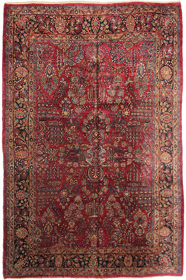 "Hand Knotted Antique Saruk Rug 11'11"" X 8'11"""