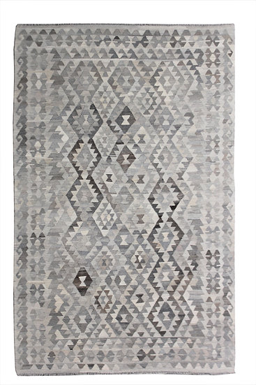 "Hand Knotted Blue Modern Kilim - 7'0"" x 9'9"""