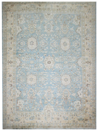 """Hand Knotted Oushak Rug - 11'3"""" x 14'10"""""""