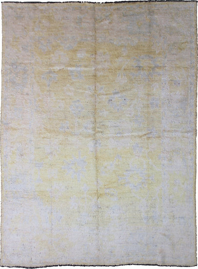 "Hand Knotted Oushak Rug - 8'5"" x 10'0"""