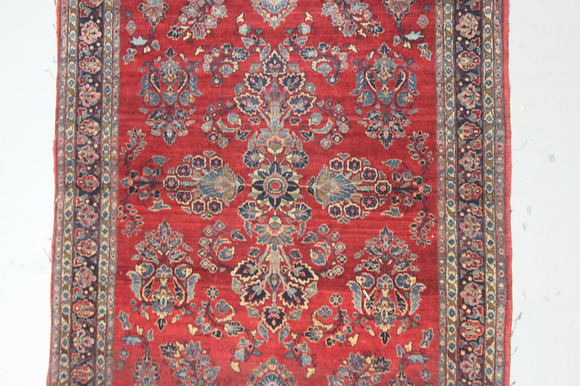 """Hand Knotted Antique Saruk Rug - 6'8"""" X 4'5"""""""