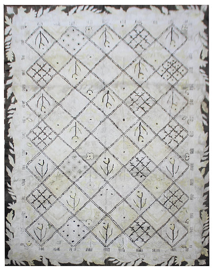 """Antique American Hand-Hooked Rug. 8'8"""" x 11'8"""""""