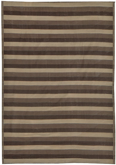 """Hand-Knotted Natural Modern Kilim - 11""""11"""" x 8'9"""""""