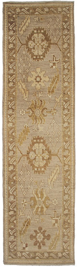 "Hand Knotted Runner  3'2"" x 12'1"""