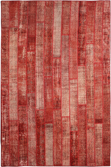 """Hand Knotted Antique Patchwork Rug - 6'9"""" x 10'11"""""""