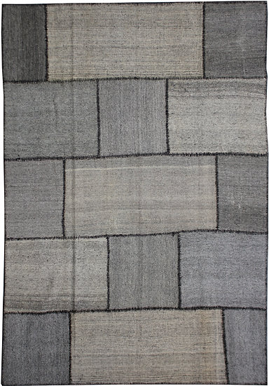 """Hand Knotted Antique Patchwork Kilim - 8'3"""" x 10'11"""""""