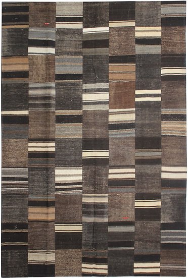 """Hand Knotted Antique Patchwork Kilim - 6'10"""" x 9'8"""""""