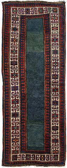 "Hand Knotted Antique Talesh Kazak Rug 3'9"" x 9'7"""