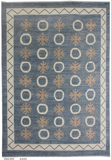 """Hand Knotted Modern Rug - 8'3"""" x 10'5"""""""