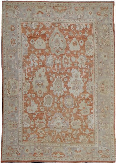 "Hand Knotted Oushak Rug - 8'2"" x 10'9"""
