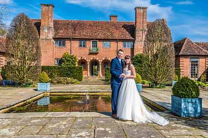 Bride and Groom Port Lympne Mansion