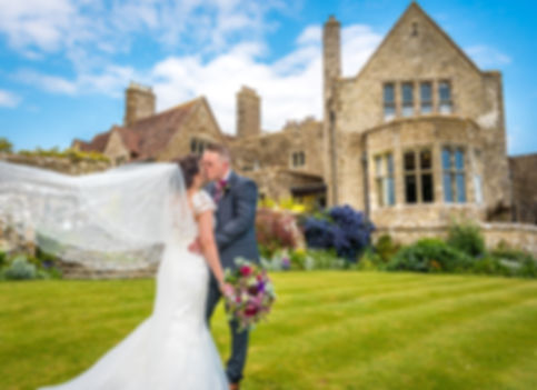 Bride and Groom Portrait Lympne Castle Kent