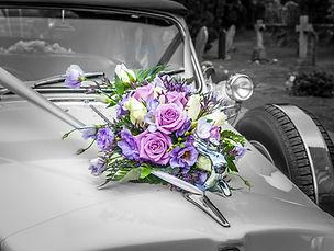 Wedding car and flowers Kent