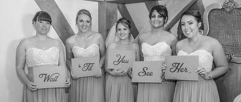 Bridesmaids black and white wedding photography kent