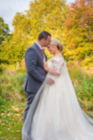 Bride and Groom Autumn Wedding Portrait Photography Kent
