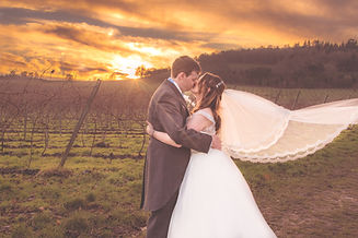 Sunset Bride and Groom photograph